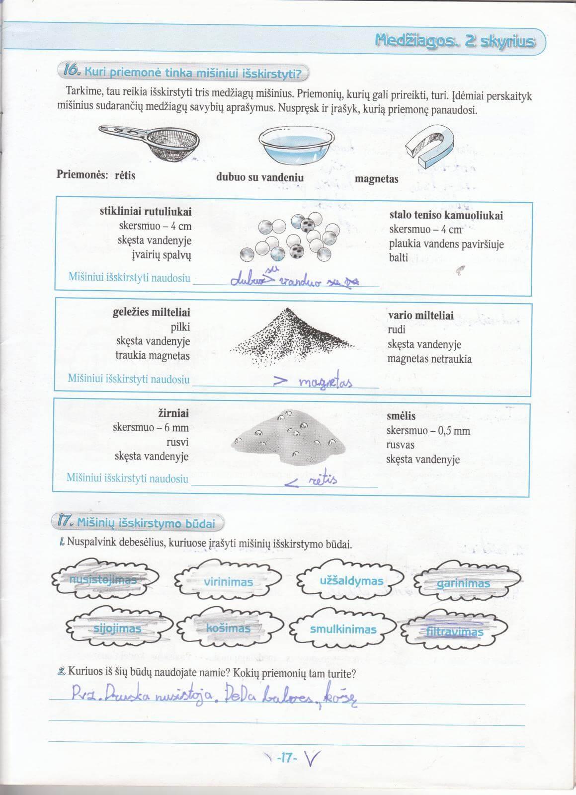 Biologija 5 klasei 1 dalis 17 puslapis