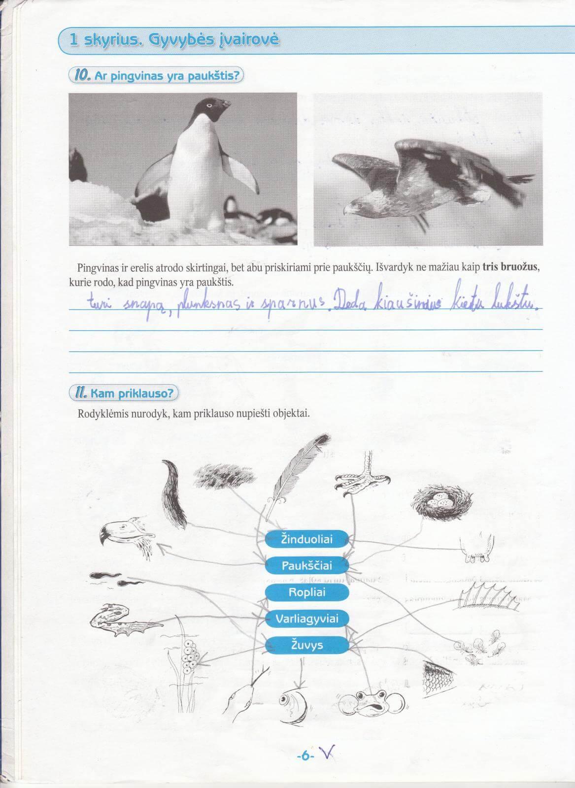 Biologija 5 klasei 1 dalis 6 puslapis